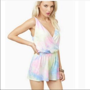 Tobi Rainbow Multicolor Tie Dye Romper